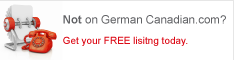 If you are German Canadian, get listed. Now!